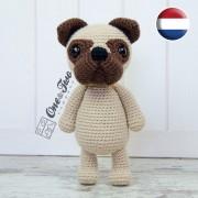 Hiro the Pug Amigurumi Crochet Pattern - Dutch Version