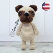 Hiro the Pug Amigurumi Crochet Pattern - English Version