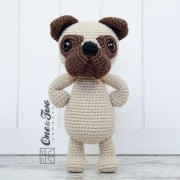 Hiro the Pug Lovey and Amigurumi Crochet Patterns Pack - English, Dutch, German