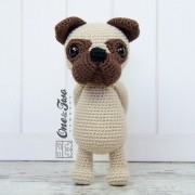 Hiro the Pug Amigurumi Crochet Pattern - English, Dutch, German
