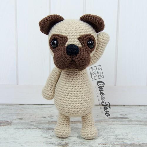 Pug Dog Amigurumi - Free Crochet Pattern - StringyDingDing | 500x500
