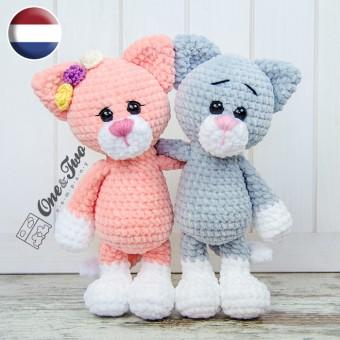 Kim the Little Kitty Amigurumi Crochet Pattern - Dutch Version