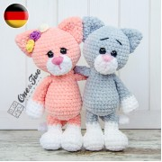 Kim the Little Kitty Amigurumi Crochet Pattern - German Version