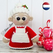 "Mrs. Claus ""Little Explorer Series"" Amigurumi Crochet Pattern - Dutch Version"