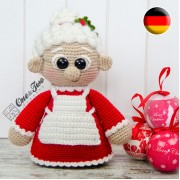 "Mrs. Claus ""Little Explorer Series"" Amigurumi Crochet Pattern - German Version"