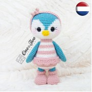 Priscilla the Sweet Penguin Amigurumi Crochet Pattern - Dutch Version