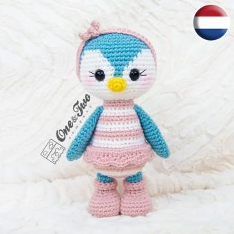 Priscilla the Sweet Penguin Amigurumi Crochet Pattern - Dutch Version
