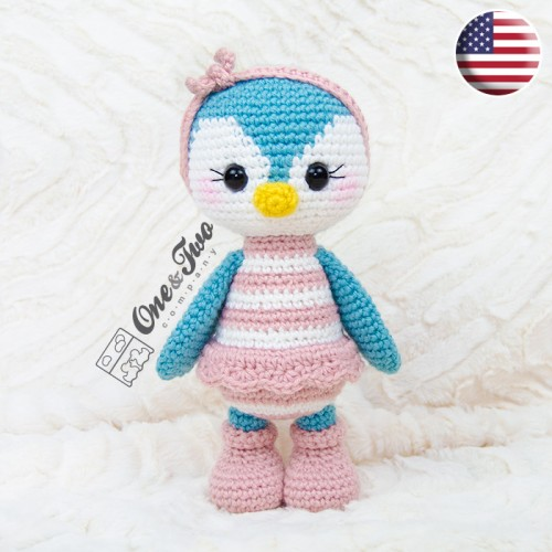 Priscilla The Sweet Penguin Amigurumi Crochet Pattern English Version