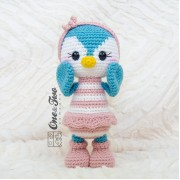 Priscilla the Sweet Penguin Amigurumi Crochet Pattern - English Version