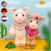 Astrid the Alpaca Amigurumi Crochet Pattern - English, Dutch, German