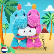 Dusty the Dino and the Tiny Cloud Amigurumi Crochet Pattern - Dutch Version