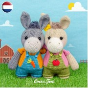 Dodee the Donkey Amigurumi Crochet Pattern - Dutch Version