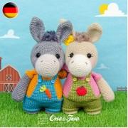 Dodee the Donkey Amigurumi Crochet Pattern - German Version
