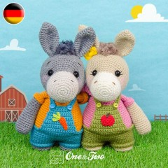 Dodee the Donkey Amigurumi Crochet Pattern - German Version