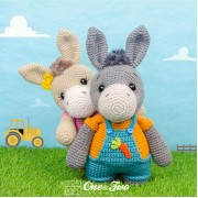 Dodee the Donkey Amigurumi Crochet Pattern - English, Dutch, German
