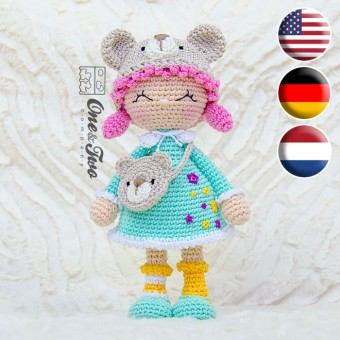 Joy the Teddy Bear Dolly Amigurumi Crochet Pattern - English, Dutch, German