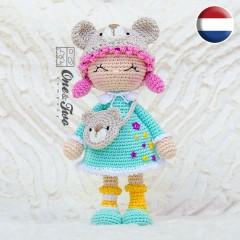 Joy the Teddy Bear Dolly Amigurumi Crochet Pattern - Dutch Version