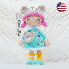 Joy the Teddy Bear Dolly Amigurumi Crochet Pattern - English Version