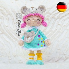Joy the Teddy Bear Dolly Amigurumi Crochet Pattern - German Version