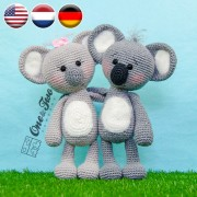 Kira the Koala Amigurumi Crochet Pattern - English, Dutch, German
