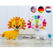 Lennon the Lion - Quad Squad Series Amigurumi Crochet Pattern - English, Dutch, German