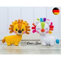 Lennon the Lion - Quad Squad Series Amigurumi Crochet Pattern - German Version