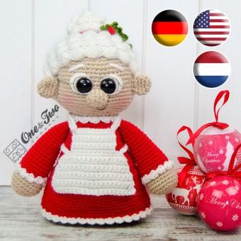 "Mrs. Claus ""Little Explorer Series"" Amigurumi Crochet Pattern - English, Dutch, German"
