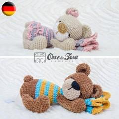 Norah the Sleeping Bear Amigurumi Crochet Pattern - German Version
