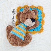 Norah the Sleeping Bear Amigurumi Crochet Pattern - English, Dutch, German