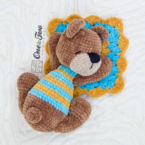 Sleepy Bear - Free amigurumi pattern | 500x500