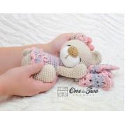 Norah the Sleeping Bear Amigurumi Crochet Pattern - English, Dutch, German