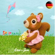 Suki the Squirrel Amigurumi Crochet Pattern - German Version