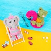 Summer Party - Little Friends Series Amigurumi Crochet Pattern - English, Dutch, German