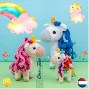 Sunny the Unicorn - Quad Squad Series Amigurumi Crochet Pattern - Dutch Version