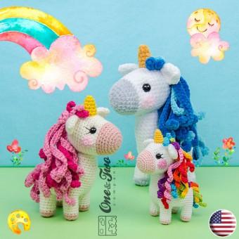 Sunny the Unicorn - Quad Squad Series Amigurumi Crochet Pattern - English Version