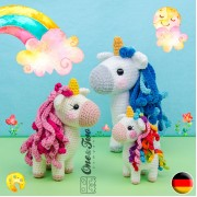 Sunny the Unicorn - Quad Squad Series Amigurumi Crochet Pattern - German Version