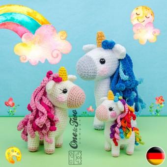 Sunny the Unicorn - Quad Squad Series Amigurumi Crochet Pattern - German Version