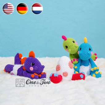 The Hatching Party Amigurumi Crochet Pattern - English, Dutch, German