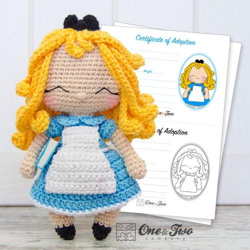 Alice in Wonderland Amigurumi Crochet Pattern - English, Dutch ... | 500x500