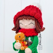 Ginger the Christmas Dolly Amigurumi Crochet Pattern - English, Dutch, German, Spanish, French