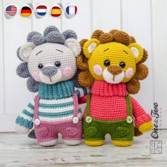 Lane the Little Lion - Little Explorer Series Amigurumi Crochet Pattern - English, Dutch, German, Spanish, French