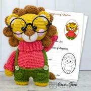 Lane the Little Lion - Little Explorer Series Amigurumi Crochet Pattern - English, Dutch, German, Spanish, French