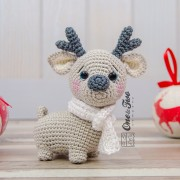 Milo the Reindeer - Quad Squad Series Amigurumi Crochet Pattern - English, Dutch, German, Spanish, French