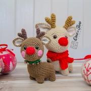 Milo the Reindeer - Quad Squad Series Amigurumi Crochet Pattern - English, Dutch, German, Spanish, French