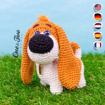 Rusty the Puppy - Quad Squad Series Amigurumi Crochet Pattern - English, Dutch, German, Spanish, French