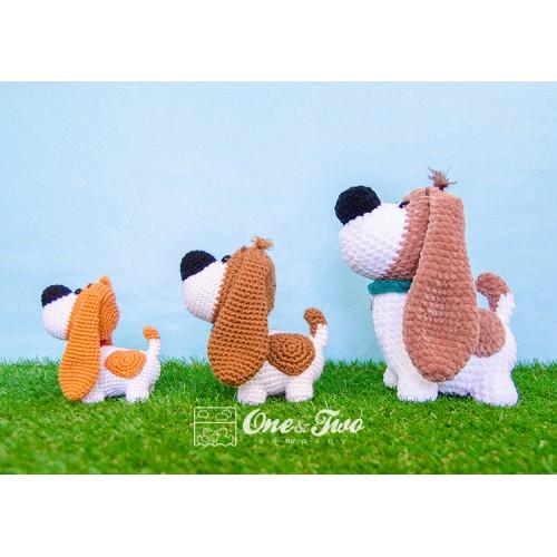 PDF AmiDogs Basset Hound amigurumi dog CROCHET PATTERN | Crochet ... | 500x500