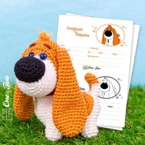 Basset Hound Puppy Amigurumi Crochet Dog Pattern PDF, Doll not ... | 500x500