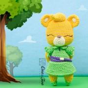 Sunni the Gummi Bear Amigurumi Crochet Pattern - English, Dutch, German, Spanish, French