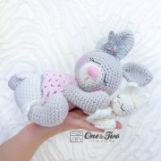 Zuri the Sleeping Bunny Amigurumi Crochet Pattern - English, Dutch, German, Spanish, French