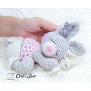 Zuri the Sleeping Bunny Amigurumi Crochet Pattern - English, Dutch, German, Spanish, French